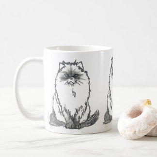 Persian cat Mug by Nicole Janes