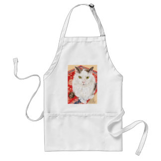 Persian cat on a red Persian carpet Standard Apron