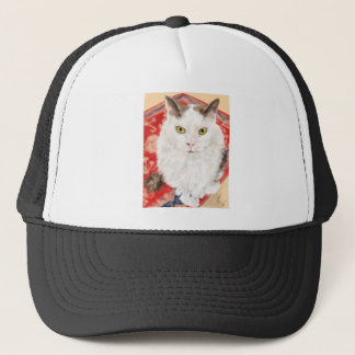 Persian cat on a red Persian carpet Trucker Hat