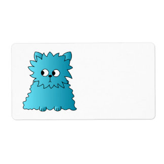 Persian Cat. Teal. Shipping Label