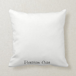 Persian Cat Throw Cushion