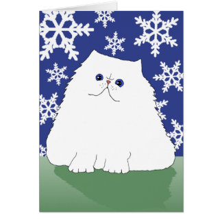 Persian Christmas Cat Card