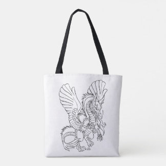 Persian Dragon Book of 100 dragons Tote Bag