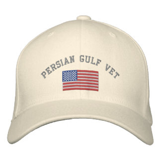 Persian Gulf Vet with American Flag Embroidered Hat