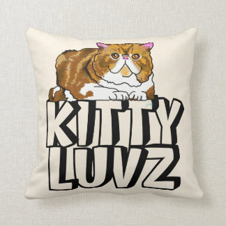 Persian Kitty Love Pillow with Pawprints