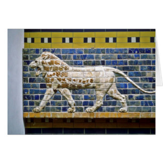 Persian Lion - Glazed Brick, Istanbul Card