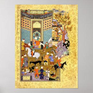 Persian Miniature: Don't Sell My Wonderful Donkey! Poster