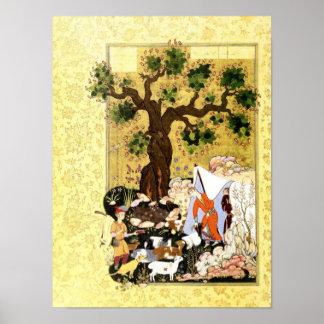 Persian Miniature: Majnun in Disguise Poster