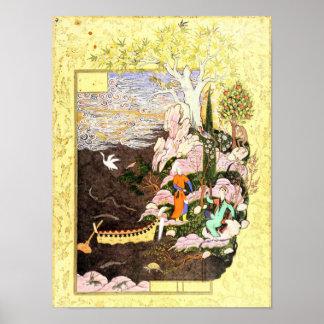 Persian Miniature: Salaman & Absal Poster