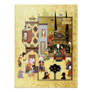 Persian Miniature: Solomon and Bilqis Have a Chat Poster