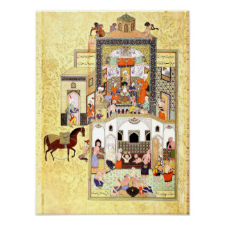 Persian Miniature: The Dervish in the Hammam Poster