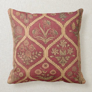 Persian or Turkish carpet, 16th/17th century (wool Throw Pillow