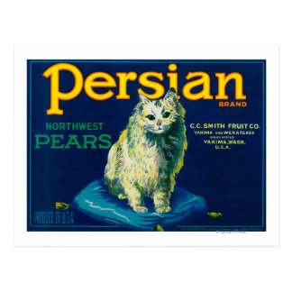 Persian Pear Crate LabelYakima, WA Postcard