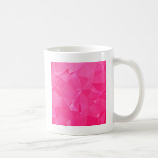 Persian Rose Pink Abstract Low Polygon Background Coffee Mug