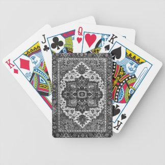 PERSIAN RUG - Black & White Bicycle Playing Cards