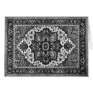 PERSIAN RUG - Black & White Card