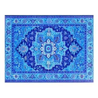 PERSIAN RUG - Blue Postcard