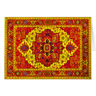 PERSIAN RUG - Red & Yellow Card