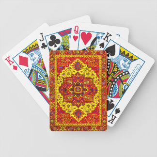 PERSIAN RUG - Red & Yellow Poker Deck