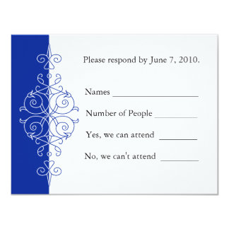 Persian Scroll RSVP Card