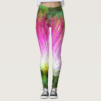 Persian Silk Tree Flower Leggings