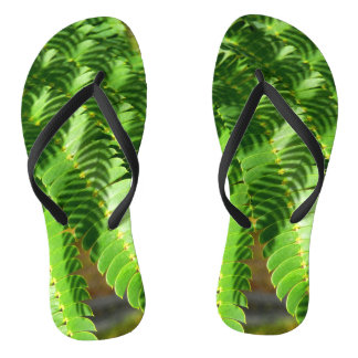 Persian Silk Tree Leaves Flip Flops