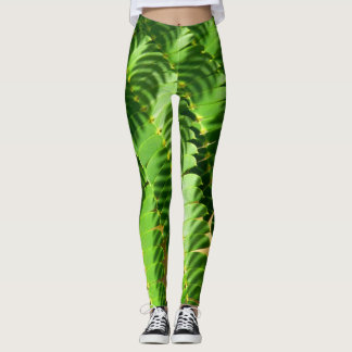 Persian Silk Tree Leaves Leggings