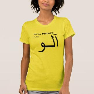 """Persian Urdu """"You Say Potato"""" Tee Shirts"""
