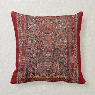 Persian Vintage Antique Carpet Nature Fine Art Throw Pillow