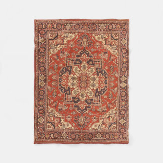Persian Vintage Rug Floral Fine Art Fleece Blanket