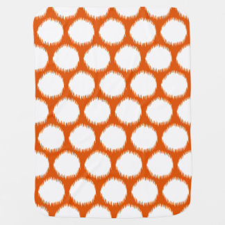 Persimmon Asian Moods Ikat Dots Baby Blanket
