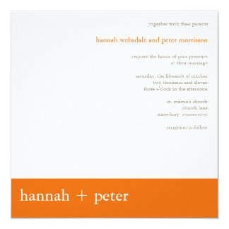 Persimmon Banner :: Wedding Invitation