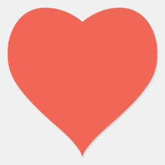 Persimmon Heart Sticker