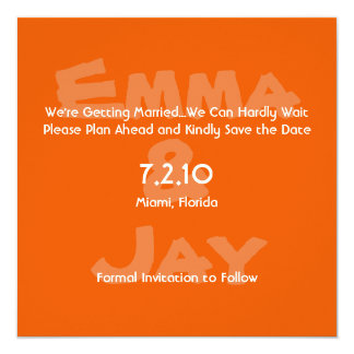 Persimmon Simply Color Save the Date Card