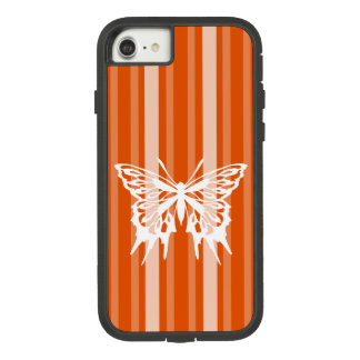 Persimmon Victorian Stripe with Butterfly Case-Mate Tough Extreme iPhone 8/7 Case