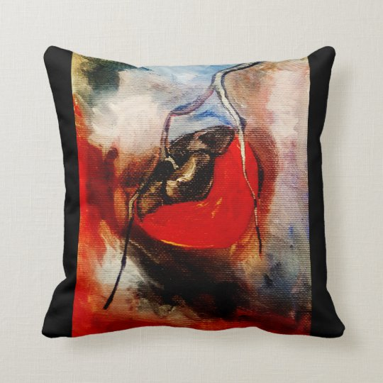 Persimmon watercolor throw pillow