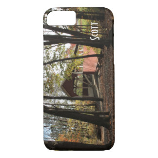 Persionalize Old Covered Bridge. iPhone 7 Case