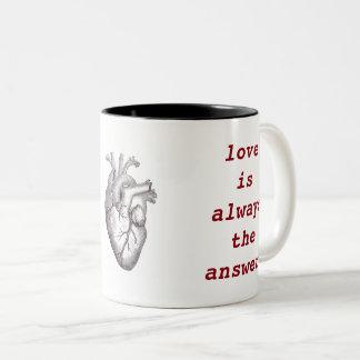 Persist ~ Heart Two-Tone Coffee Mug