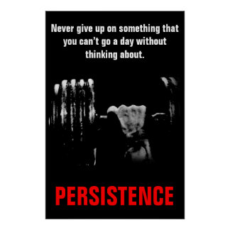 Persistence Bodybuilding Training Work Hard Poster