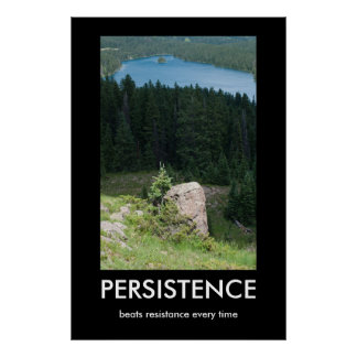 Persistence Demotivational Poster