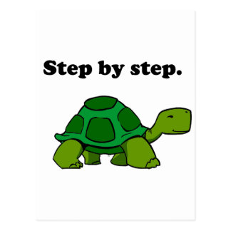 Persistent Winning Tortoise Turtle Step by Step Postcard