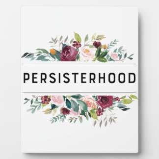 persisterhood plaque