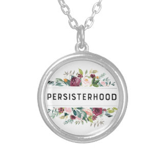 persisterhood silver plated necklace