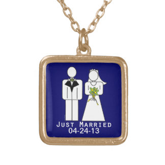 Persoanlized Just Married Custom Jewelry