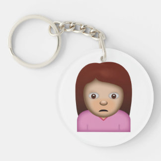 Person Frowning Emoji Keychain