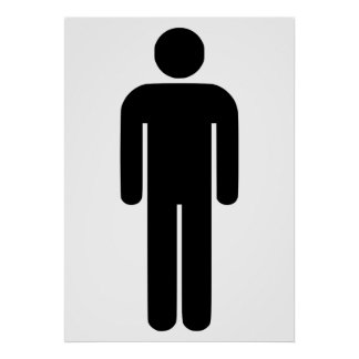 Person Man Sign Universal Silhouette Classic Comic Poster