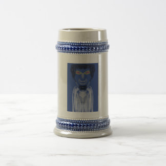 Person pattern beer stein