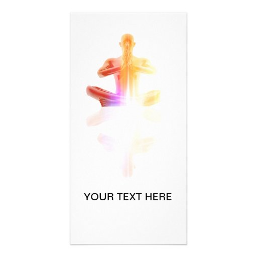 Person seated in yoga position photo cards