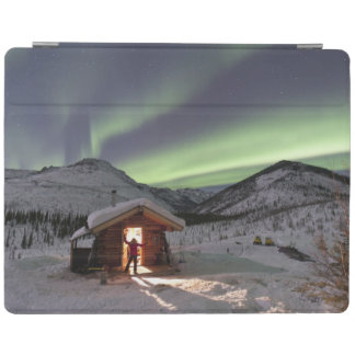 Person stands in doorway of Caribou Bluff cabin 2 iPad Cover