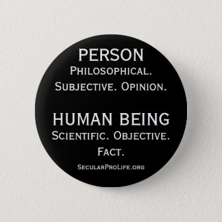 Person vs Human Being 2 Inch Round Button
